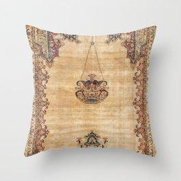 Tabriz  Antique North West Persian Silk Prayer Rug Throw Pillow