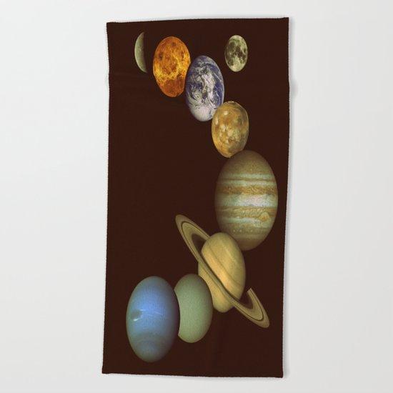 The Solar System Beach Towel