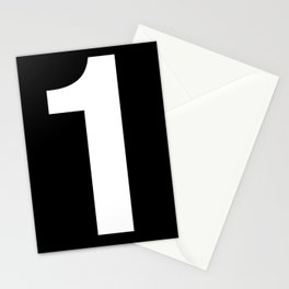 Lucky number: 1 Stationery Cards