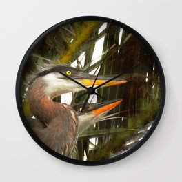 Punked Chicks Wall Clock