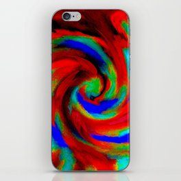 Red Blue Green Fireball Sky Explosion iPhone Skin
