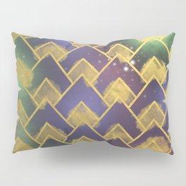 Gold Chevron Pattern Pillow Sham