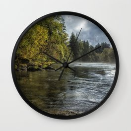 Vying for the Day Wall Clock