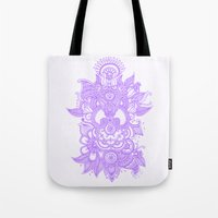 henna Tote Bags featuring Purple Henna by haleyivers