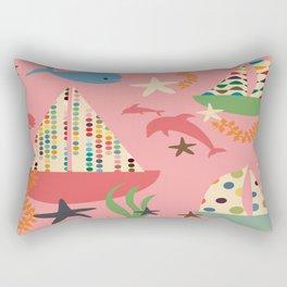 Boat pink Rectangular Pillow