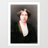 Louisa May Alcott, age 27 Art Print