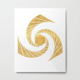 GOLDEN MEAN SACRED GEOMETRIC CIRCLE Metal Print
