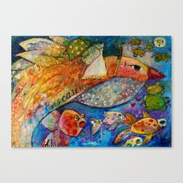 THE WEDDING AND THE BIRD Canvas Print