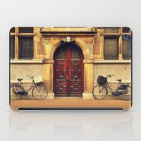 bicycles iPad Cases featuring Two Bicycles by Indigo Rayz