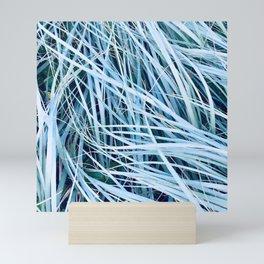 Blue Sea Grass Mini Art Print