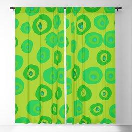 Spots on Dots on Acid Green Blackout Curtain