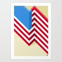 flag Art Prints featuring Flag by Ryan Winters