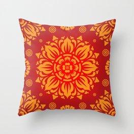 PATTERN ART03 - Red Throw Pillow