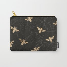 Busy Bees (Black) Carry-All Pouch