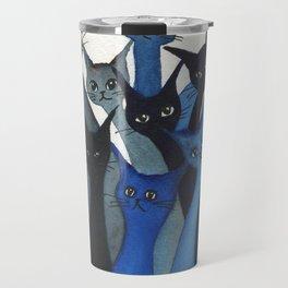 Escondido Whimsical Cats Travel Mug