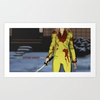 "kill bill Art Prints featuring ""Kill Bill"" by Kenneth J. Franklin"