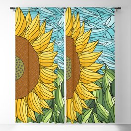 SUNNY DAY (abstract flowers) Blackout Curtain