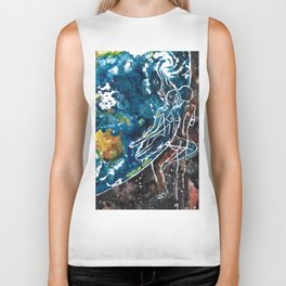 Mother Earth and Father Sky Make Love Biker Tank