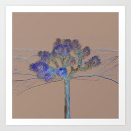 Joshua Tree Acid Wash by CREYES Art Print
