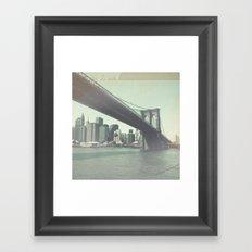 Find Me in New York Framed Art Print