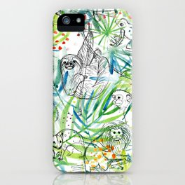 Endangered in the Rainforest iPhone Case