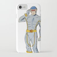 cyclops iPhone & iPod Cases featuring Cyclops by colleencunha