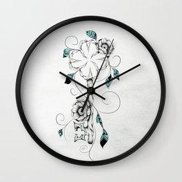 Poetic Key of Luck Wall Clock