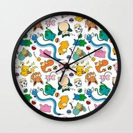 PokePattern Wall Clock
