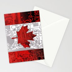 circuit board Canada (Flag) Stationery Cards