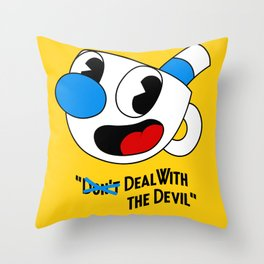 Deal With the Devil - Cuphead Throw Pillow