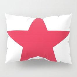 Single red star on white Pillow Sham