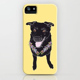 Happy Black Lab Dog iPhone Case