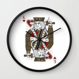 Omnia Oscura King of Hearts Wall Clock