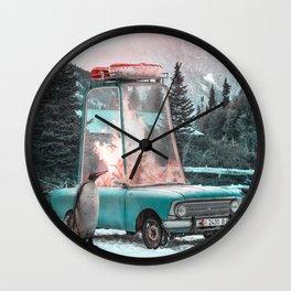 FireCar - Julien Tabet - Photoshop Artwork Wall Clock