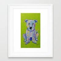 pitbull Framed Art Prints featuring Pitbull by K.ForstnerArt