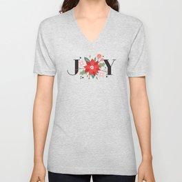 Joy Flourish - Slate Unisex V-Neck