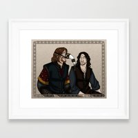 gondor Framed Art Prints featuring Gondor Humour by wolfanita