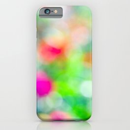 Abstract Colors Of A Summer Garden iPhone Case