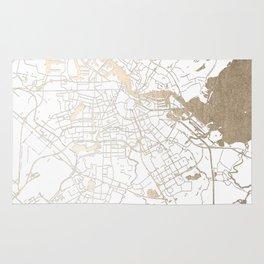 Amsterdam White on Gold Street Map II Rug