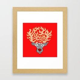 Afro-Cabra Framed Art Print
