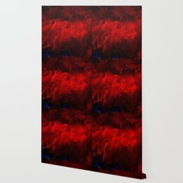 Red And Black Luxury Abstract Gothic Glam Chic by Corbin Henry Wallpaper