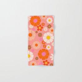 Groovy 60's Mod Flower Power Hand & Bath Towel