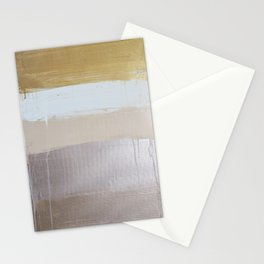 neutral and metallic lines Stationery Cards