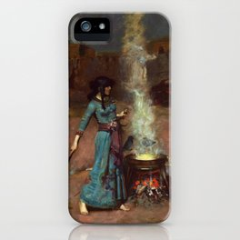 The Magic Circle John William Waterhouse Painting iPhone Case