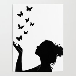 Angel Wings And Butterfly Effect Poster