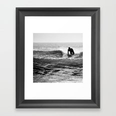 Shark food Framed Art Print