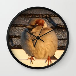 Bird on the Roof Wall Clock