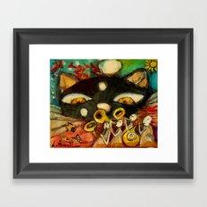 GATO NEGRO Framed Art Print