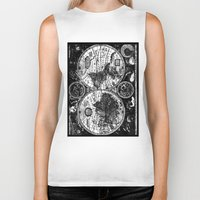 vintage map Biker Tanks featuring vintage map by ClicheZero