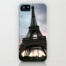 Cotton Candy Sky Eiffel iPhone Case
